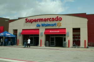 Front view of Supermercado Walmart