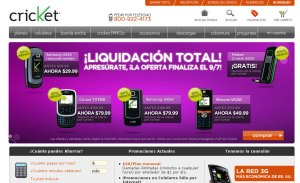 Cricket Web site Espanol